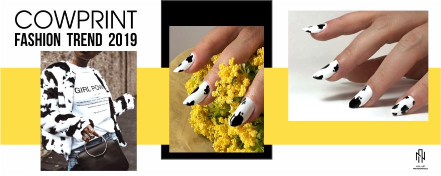 COWPRINT NAIL DESIGN IN 3 PASI