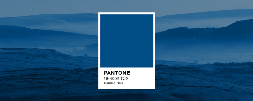 Color palette of the year – Pantone Classic Blue