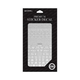 Sticker premium pentru design simplu și rapid de salon. Instrucțiuni de aplicare: Alege design-ul dorit și decupează-l. Curăță suprafața unghiei. Plasează design-ul pe unghie. Îndepărtează stratul de protecție de pe suprafața design-ului. Aplică un top simplu sau cu efect de gel.